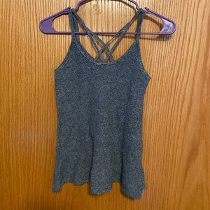 American Eagle Grey Strappy Tank Top